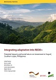 Integrating adaptation into REDD+: potential impacts and social return on investment in Sogod, Southern Leyte, Philippines