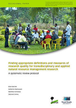 Finding appropriate definitions and measures of research quality for transdisciplinary and applied natural resource management research