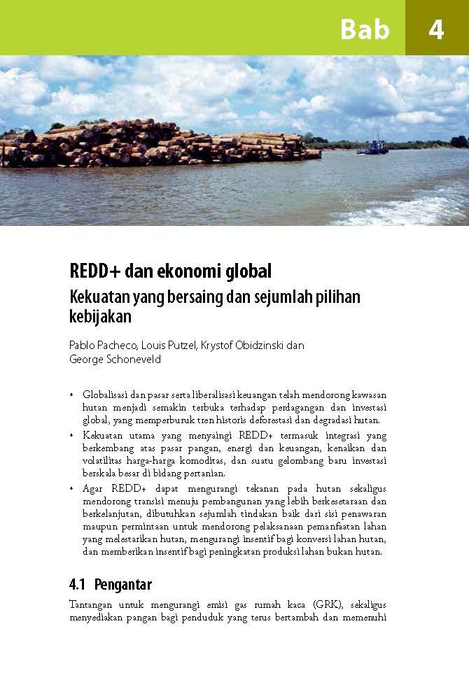 REDD+ dan ekonomi global Kekuatan yang bersaing dan sejumlah pilihan kebijakan