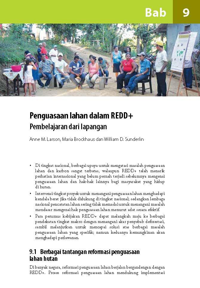 Penguasaan lahan dalam REDD+: Pembelajaran dari lapangan