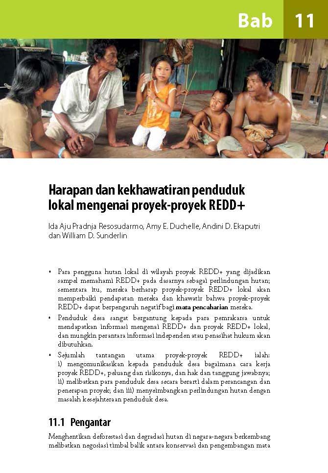 Harapan dan kekhawatiran penduduk lokal mengenai proyek-proyek REDD+
