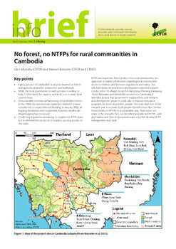 No forest, no NTFPs for rural communities in Cambodia