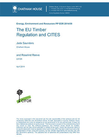 The EU timber regulation and CITES