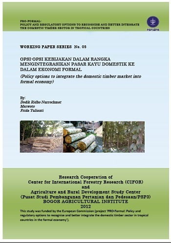 Analysis of smallholding forest livelihood system: timber certification and its socio-economics impacts: case studies of three regencies of Central Java province of Indonesia