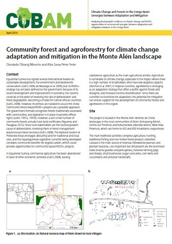 Community forest and agroforestry for climate change adaptation and mitigation in the Monte Alén landscape