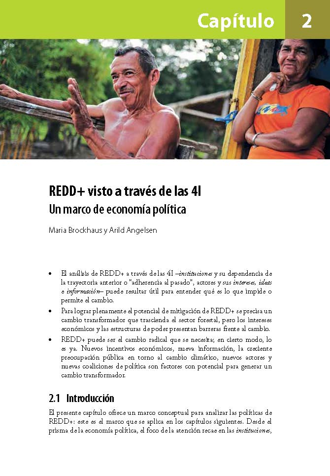 REDD+ visto a traves de las 4I: Un marco de economia politica