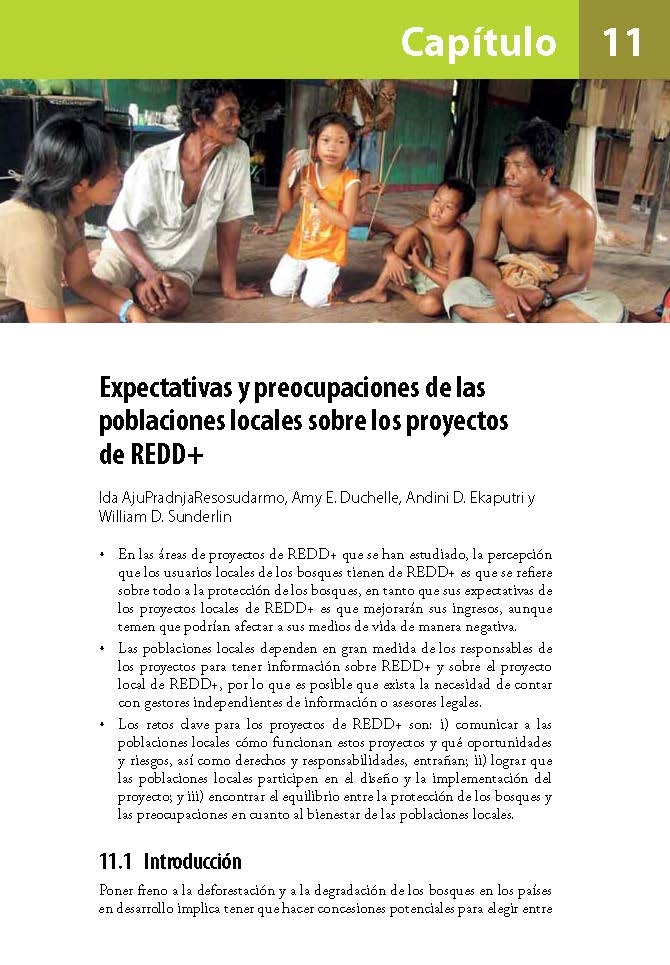 Expectativas y preocupaciones de laspoblaciones locales sobre los proyectos de REDD+