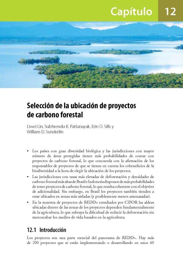 Seleccion de la ubicacion de proyectos de carbono forestal