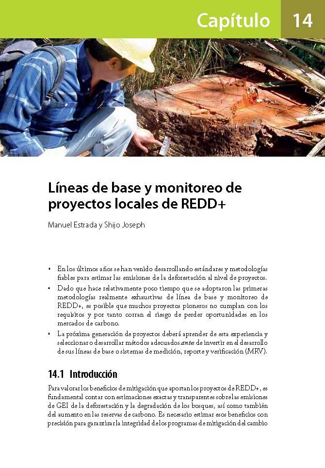 Laneas de base y monitoreo de proyectos locales de REDD+