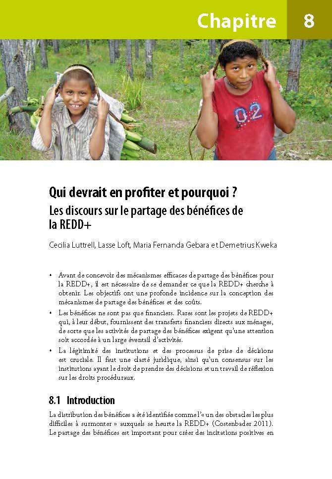 Qui devrait en profiter et pourquoi ?: Les discours sur le partage des benefices de la REDD+