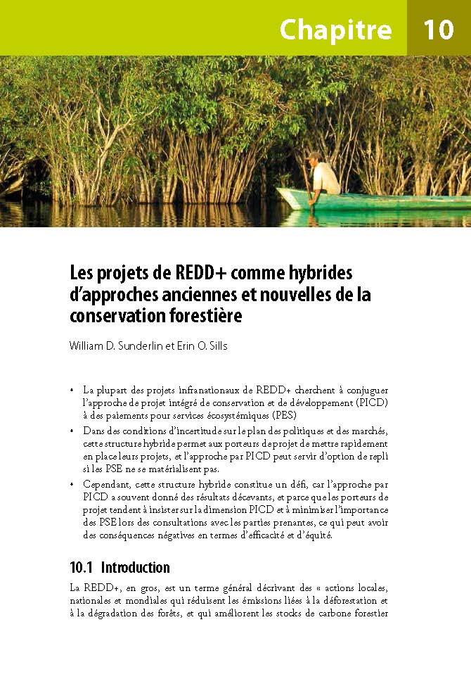 Les projets de REDD+ comme hybrides d'approches anciennes et nouvelles de la conservation forestiere