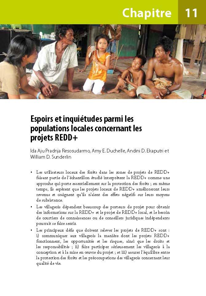 Espoirs et inquietudes parmi les populations locales concernant les projets REDD+