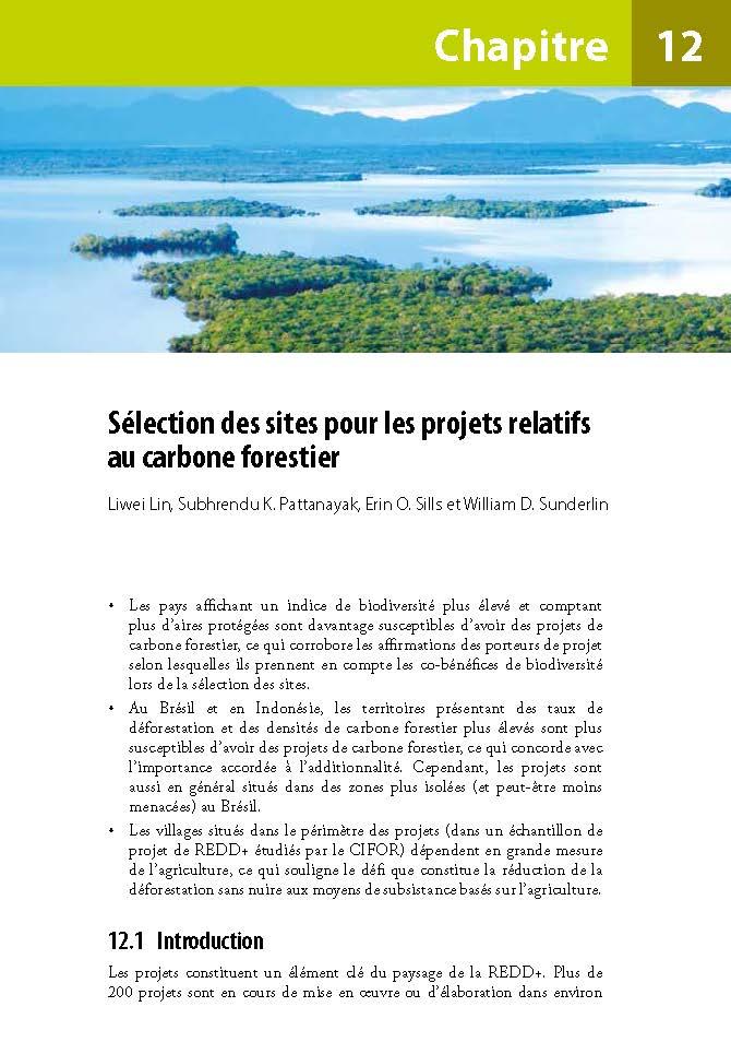 Selection des sites pour les projets relatifs au carbone forestier