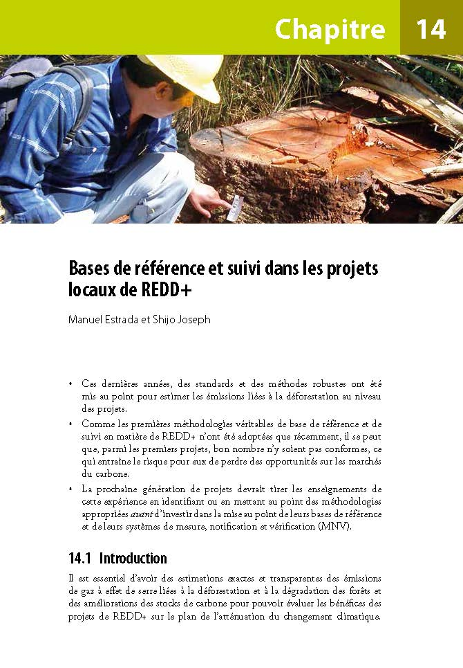 Bases de reference et suivi dans les projets locaux de REDD+
