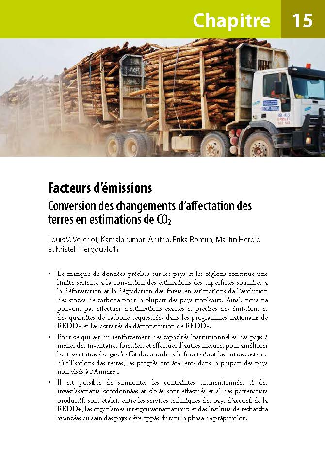 Facteurs d'emissions: Conversion des changements d'affectation des  terres en estimations de CO2