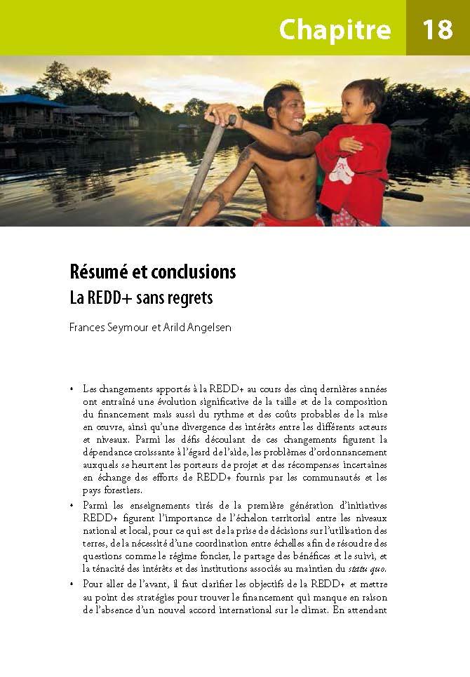 Resume et conclusions: La REDD+ sans regrets