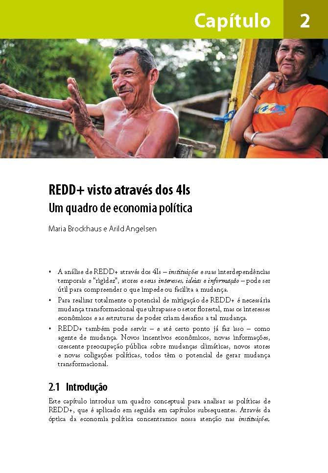 REDD+ visto atraves dos 4Is: Um quadro de economia politica
