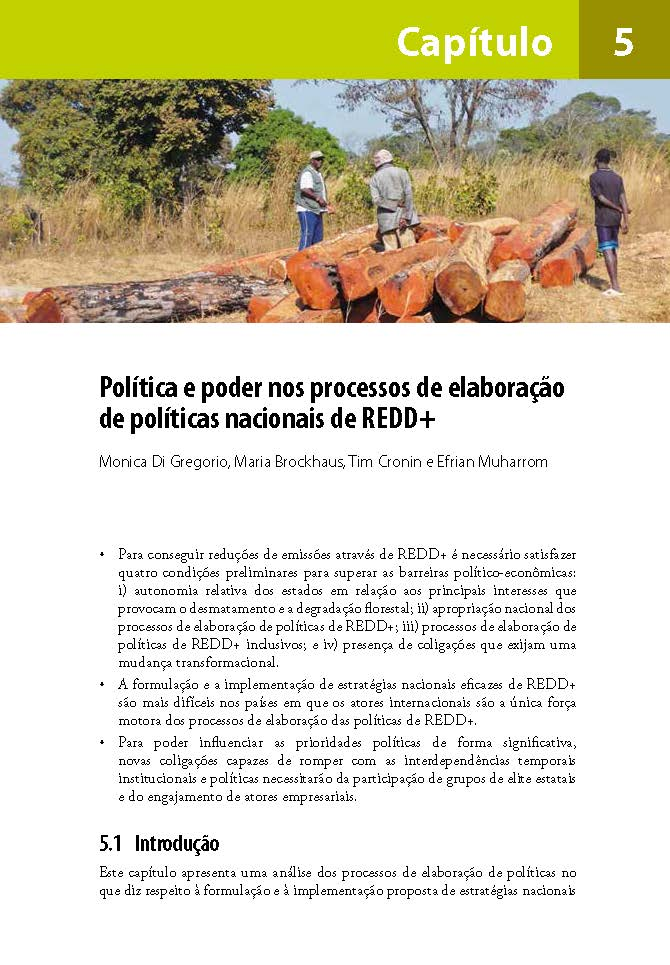 Política e poder nos processos de elaboracao de politicas nacionais de REDD+