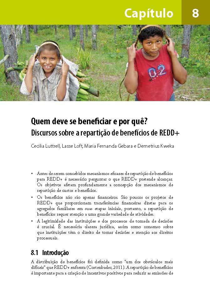 Quem deve se beneficiar e por que?: Discursos sobre a reparticao de beneficios de REDD+
