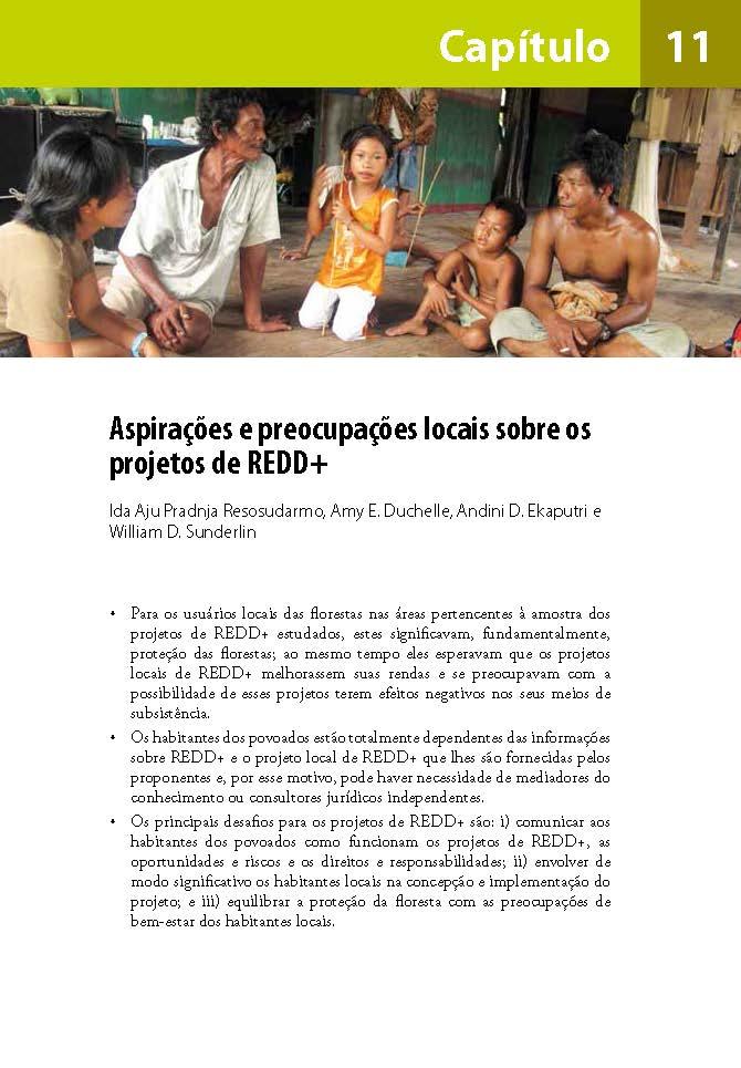 Aspiracoes e preocupacoes locais sobre os projetos de REDD+