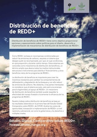 Distribución de beneficios de REDD+
