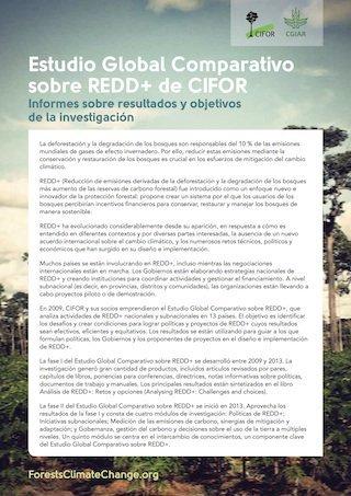Estudio Global Comparativo sobre REDD+ de CIFOR: Informes sobre resultados y objetivos de la investigación