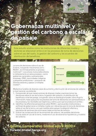 Gobernanza multinivel y gestion del carbono a escala de paisaje