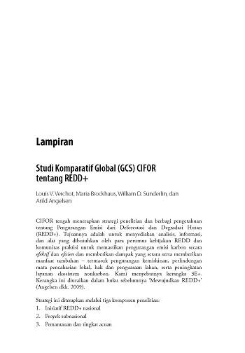 Studi Komparatif Global (GCS) CIFOR tentang REDD+