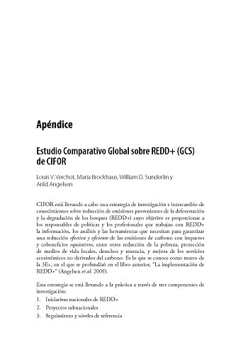 Estudio Comparativo Global sobre REDD+ (GCS) de CIFOR