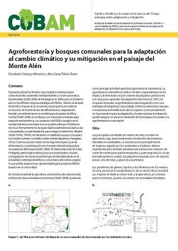 Agroforestería y bosques comunales para la adaptación al cambio climático y su mitigación en el paisaje del Monte Alén