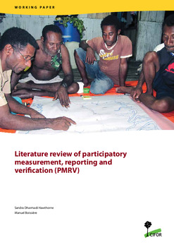 Literature review of participatory measurement, reporting and verification (PMRV)