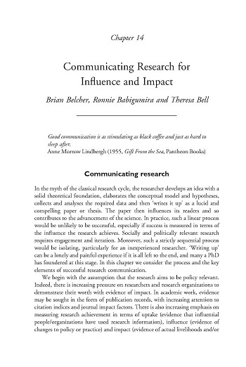 Communication research for influence and impact