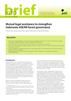 Mutual legal assistance to strengthen Indonesia-ASEAN forest governance<br>
