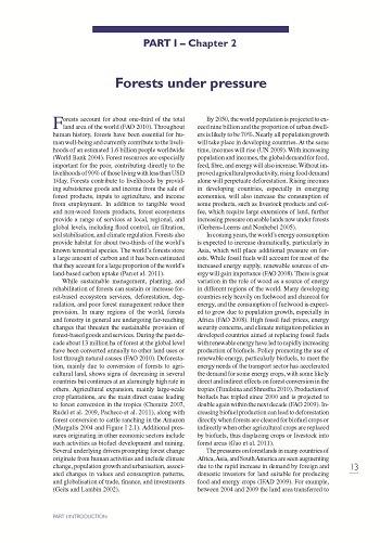 Forests under pressure