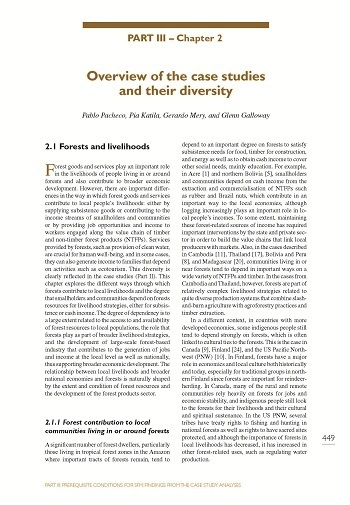 Overview of the case studies and their diversity