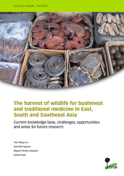 The harvest of wildlife for bushmeat and traditional medicine in East, South and Southeast Asia: Current knowledge base, challenges, opportunities and areas for future research
