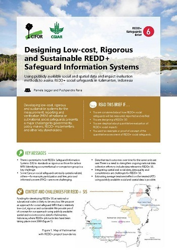 Designing low-cost, rigorous and sustainable REDD+ Safeguard Information Systems: Using publicly available social and spatial data and impact evaluation methods to assess REDD+ social safeguards in Kalimantan, Indonesia