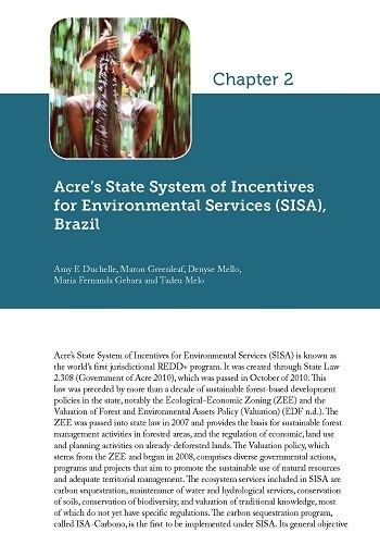 Acre's State System of Incentives for Environmental Services (SISA), Brazil