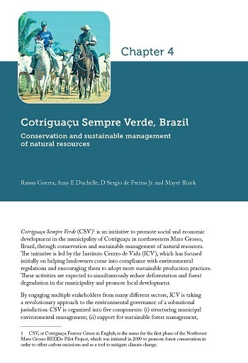 Cotriguaçu Sempre Verde, Brazil: Conservation and sustainable management of natural resources