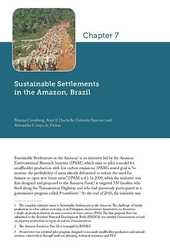 Sustainable Settlements in the Amazon, Brazil