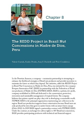 The REDD Project in Brazil Nut Concessions in Madre de Dios, Peru