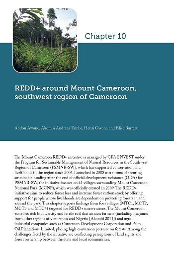 REDD+ around Mount Cameroon, southwest region of Cameroon