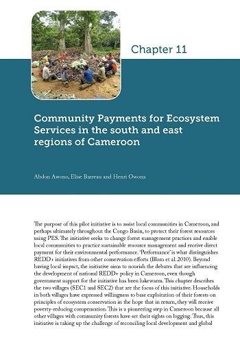 Community Payments for Ecosystem Services in the south and east regions of Cameroon