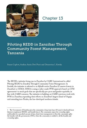 Piloting REDD in Zanzibar Through Community Forest Management, Tanzania