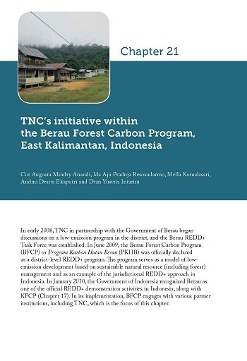 TNC\'s initiative within the Berau Forest Carbon Program, East Kalimantan, Indonesia