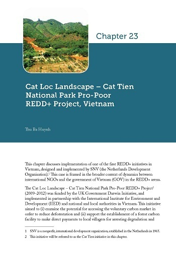 Cat Loc Landscape – Cat Tien National Park Pro-Poor REDD+ Project, Vietnam