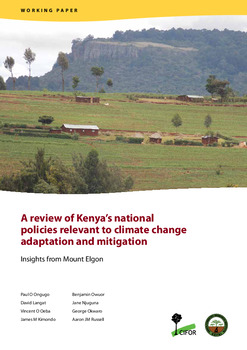 A review of Kenya's national policies relevant to climate change adaptation and mitigation: Insights from Mount Elgon