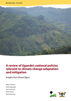 A review of Uganda's national policies relevant to climate change adaptation and mitigation: Insights from Mount Elgon