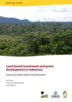 Land-based investment and green development in Indonesia: Lessons from Berau district, East Kalimantan