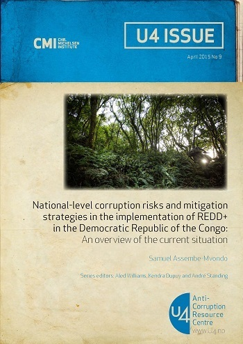 National-level corruption risks and mitigation strategies in the implementation of REDD+ in the Democratic Republic of the Congo: An overview of the current situation